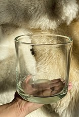 "Henry Dean Handblown Cylinder Vessel - Clear Glass - 6"""