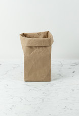 """Japanese Stitched Brown Paper Bag - Small - 7 x 7 x 14"""""""