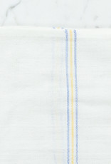 Light Striped Cotton Napkin - Blue + Yellow