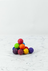 Grimm's Toys Wooden Rainbow Ball Set