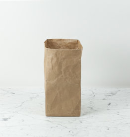 Japanese Stitched Brown Paper Bag - Small - 7 x 7 x 14""