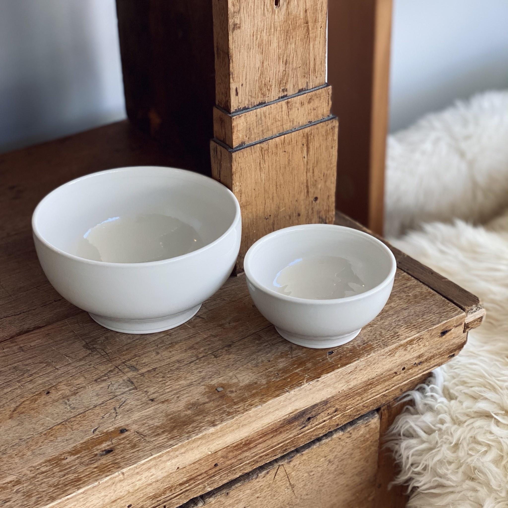 """John Julian John Julian Plain Porcelain Simple Bowl Plain - Large - 6"""""""