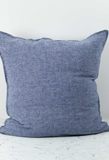 Washed French Linen Pillow COVER ONLY - Blue Chambray - 26 x 26""