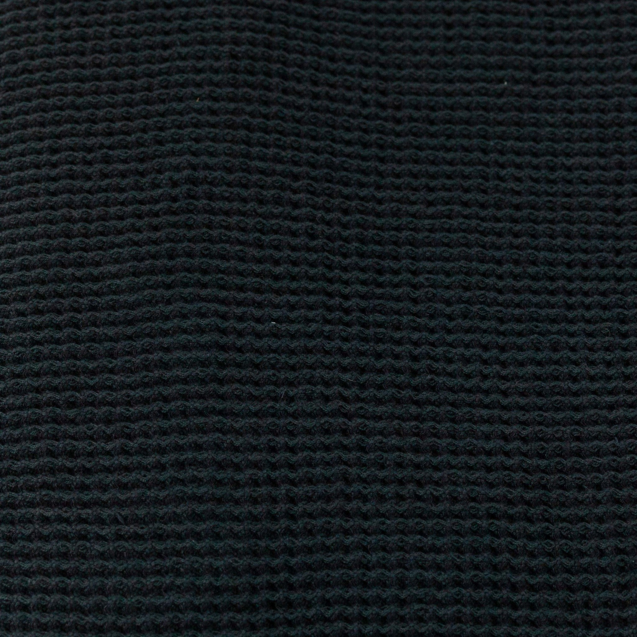 """Washed French Linen + Cotton Thermal Waffle Hand Towel - Black - 32"""" x 20"""""""