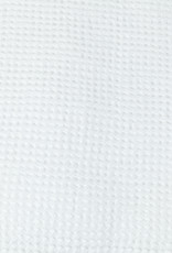 """Washed French Linen + Cotton Thermal Waffle Bath Towel - Optic White - 40 x 62"""""""