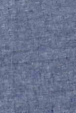 Washed French Linen Dish or Hand Towel with Hidden Apron Strings - Blue Chambray - 22 x 30""
