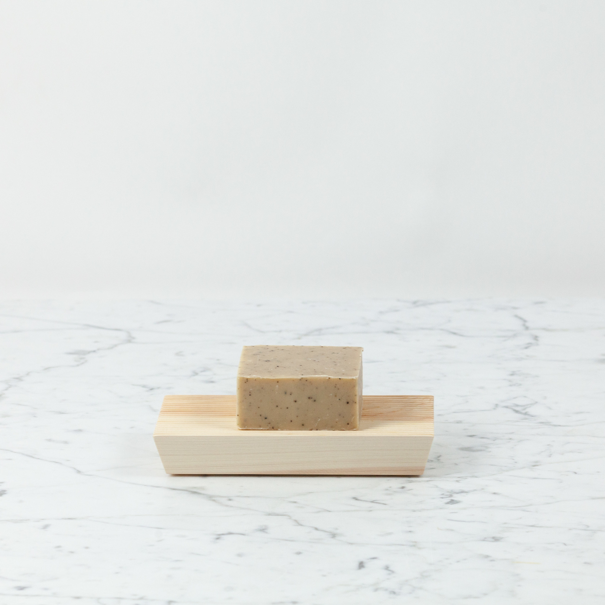 "Japanese Hinoki Ridged Soap Rest - Long Block - 7"""