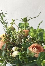 The Foundry Home Goods Foundry Classic Floral Bouquet in Recycled Glass Vase - Saturday 2/13 PM Pickup
