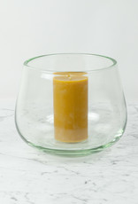 "Henry Dean Medium Clovis Vessel - Clear Glass - 7 3/4"""