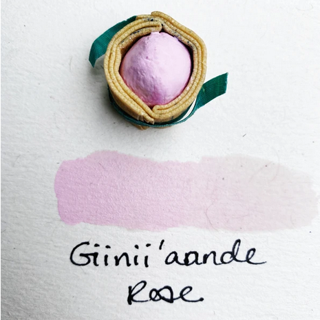 Beam Paints Natural Pigment Handmade Watercolor Paintstones - Giinii'annde Wild Rose Gouache - Individually Wrapped