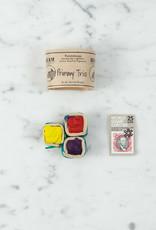 Beam Paints Natural Pigment Handmade Watercolor Paintstones - Primary Trio Palette