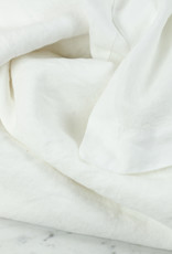 Linen Flat Sheet - One Size - White - 104 x 110""