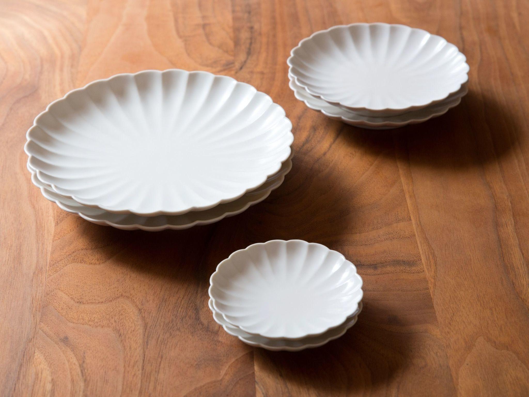 Jicon Chrysanthemum Plate - Extra Small - Ivory - 3.75''