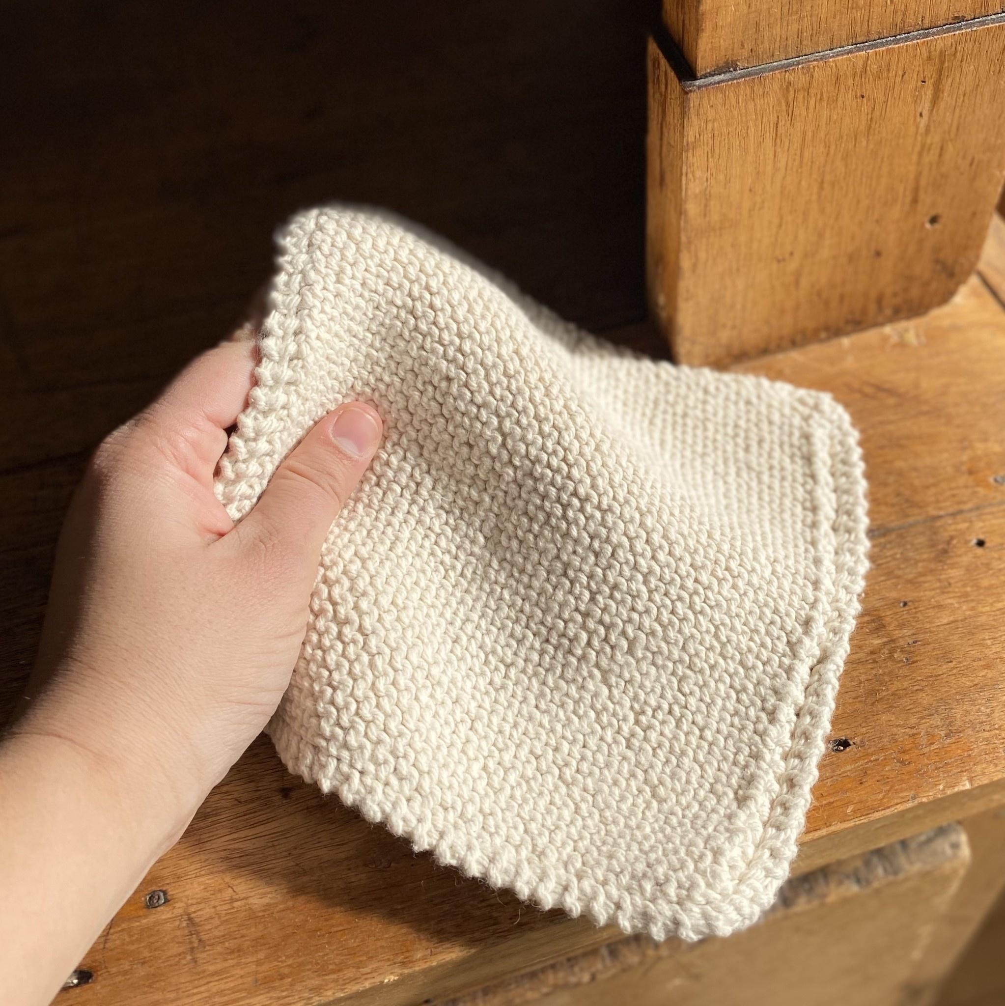 Hand Knit Organic Scrubbing Pad - Square - Individual