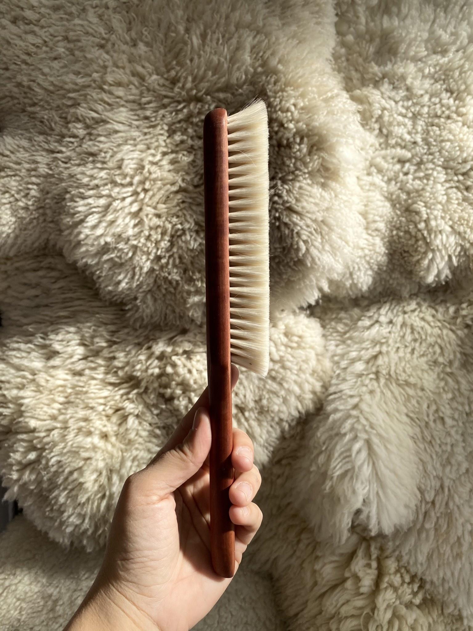German Goat Hair Gentle Book Dusting Brush