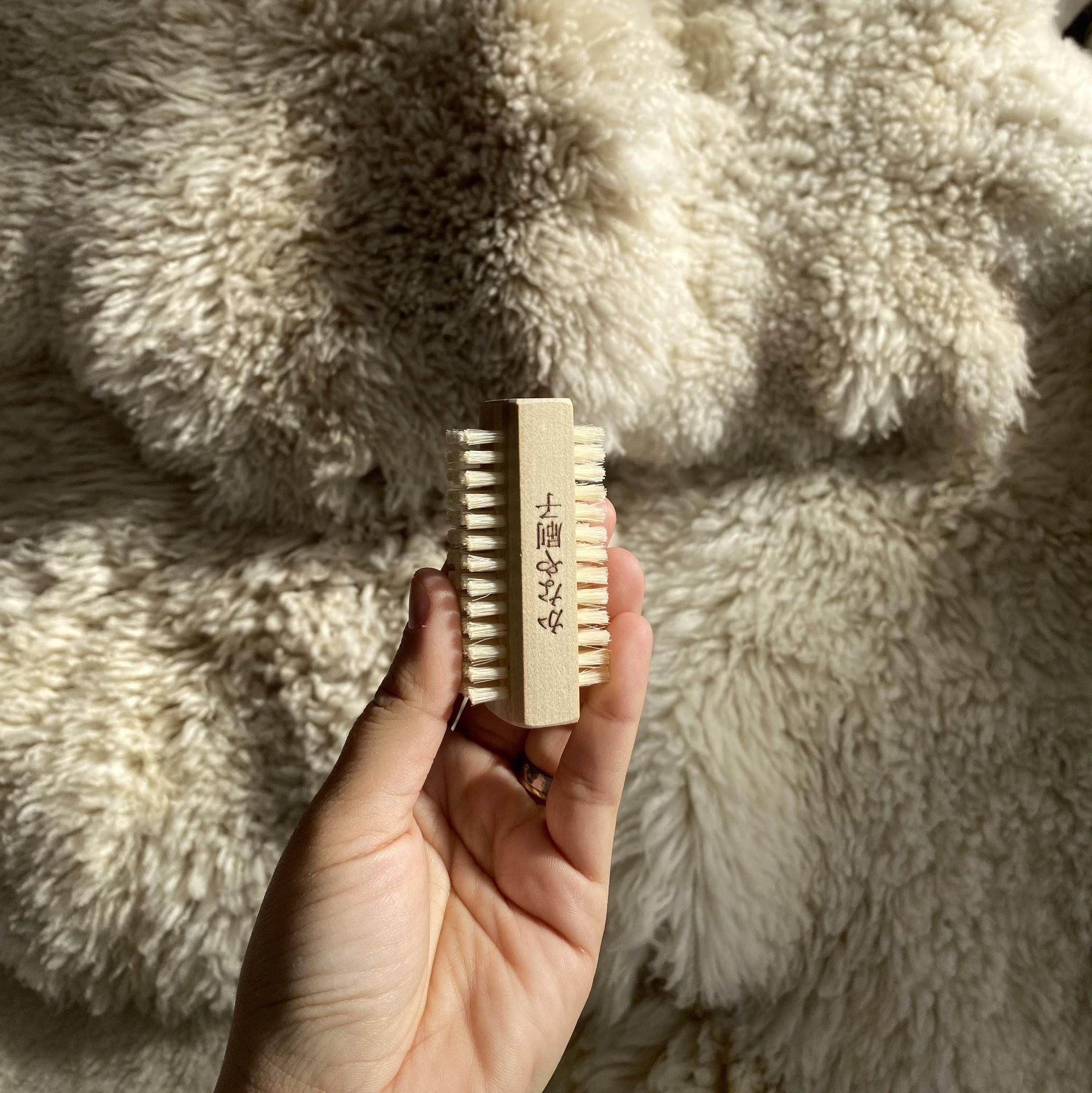 Kanaya Hog Hair Double Sided Nail Brush