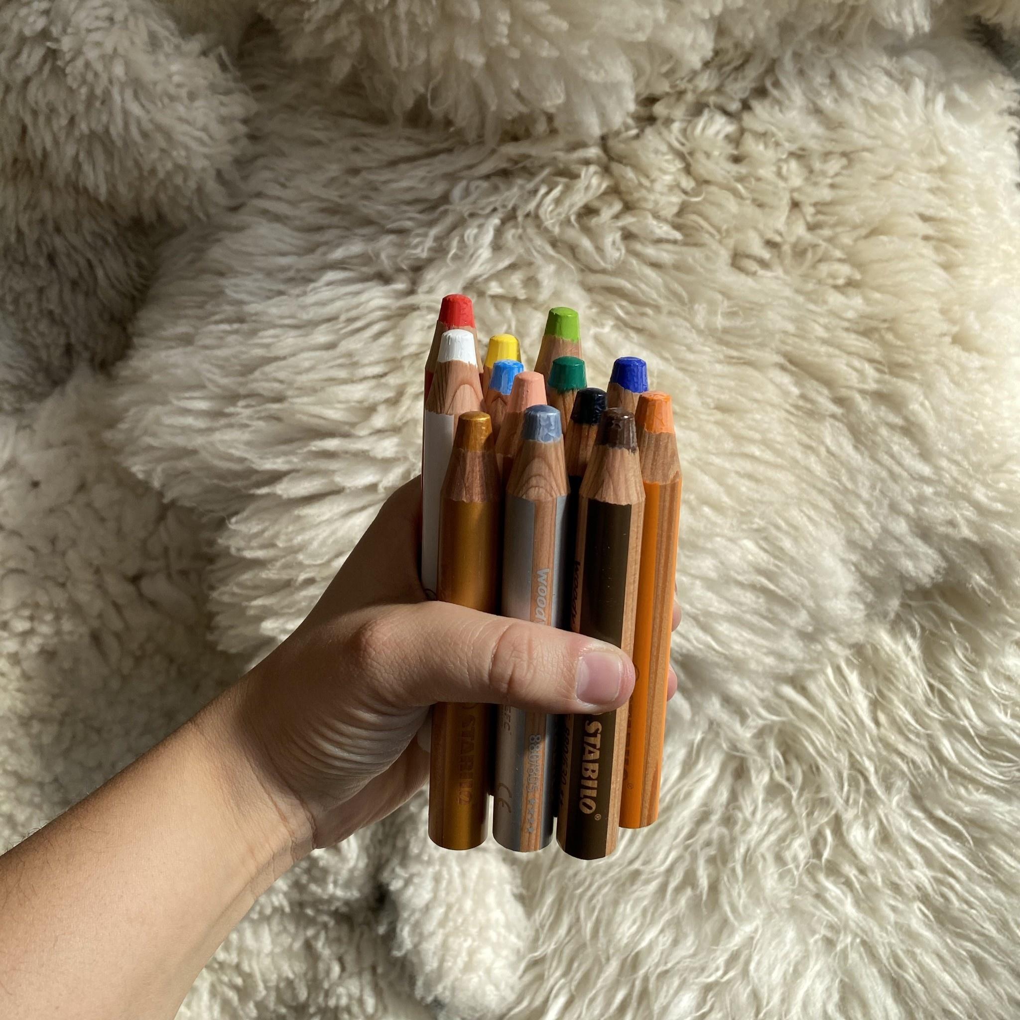 MacPherson's Stabilo Woody 3 in 1 Pencil - Cyan Blue