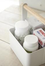 """Yamazaki Home Square Textured Metal Utility Storage Tote - White - 5"""""""