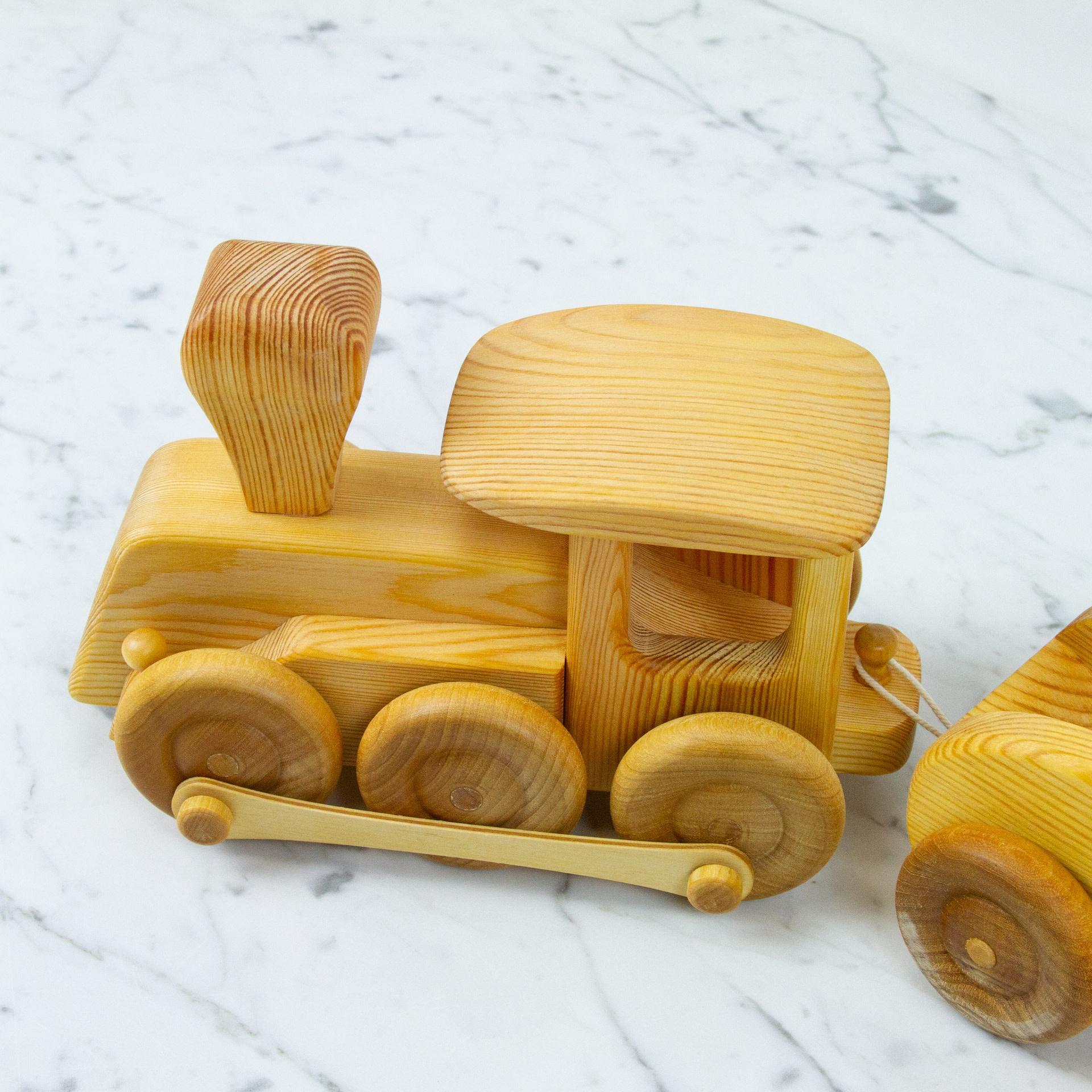 Swedish Wooden Toy Train Set