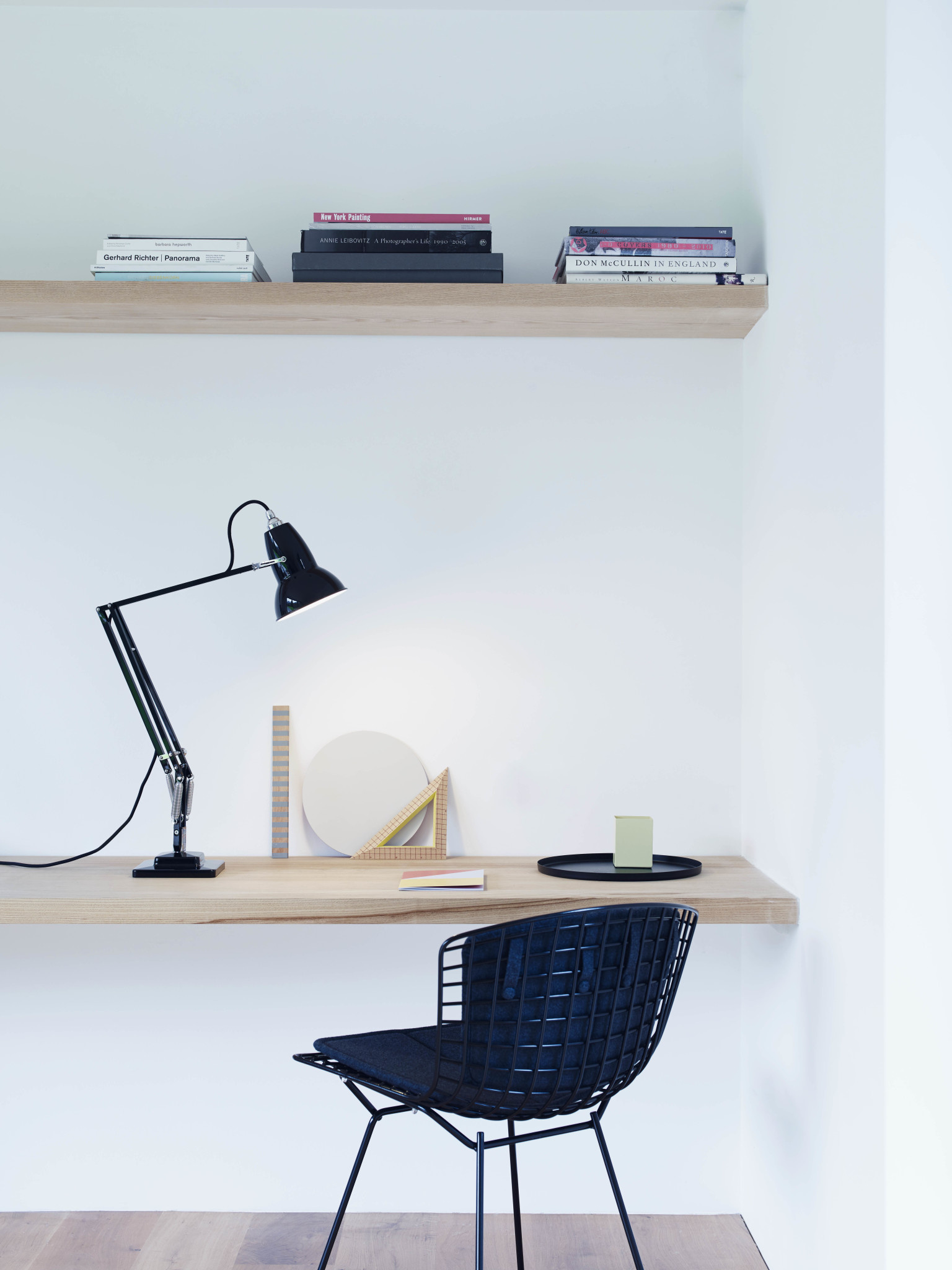 Anglepoise PREORDER Original 1227 Desk Lamp - Jet Black with Brass