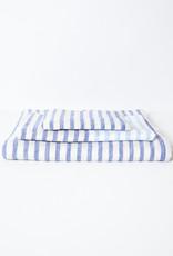 Linen Border Striped Washcloth - Navy