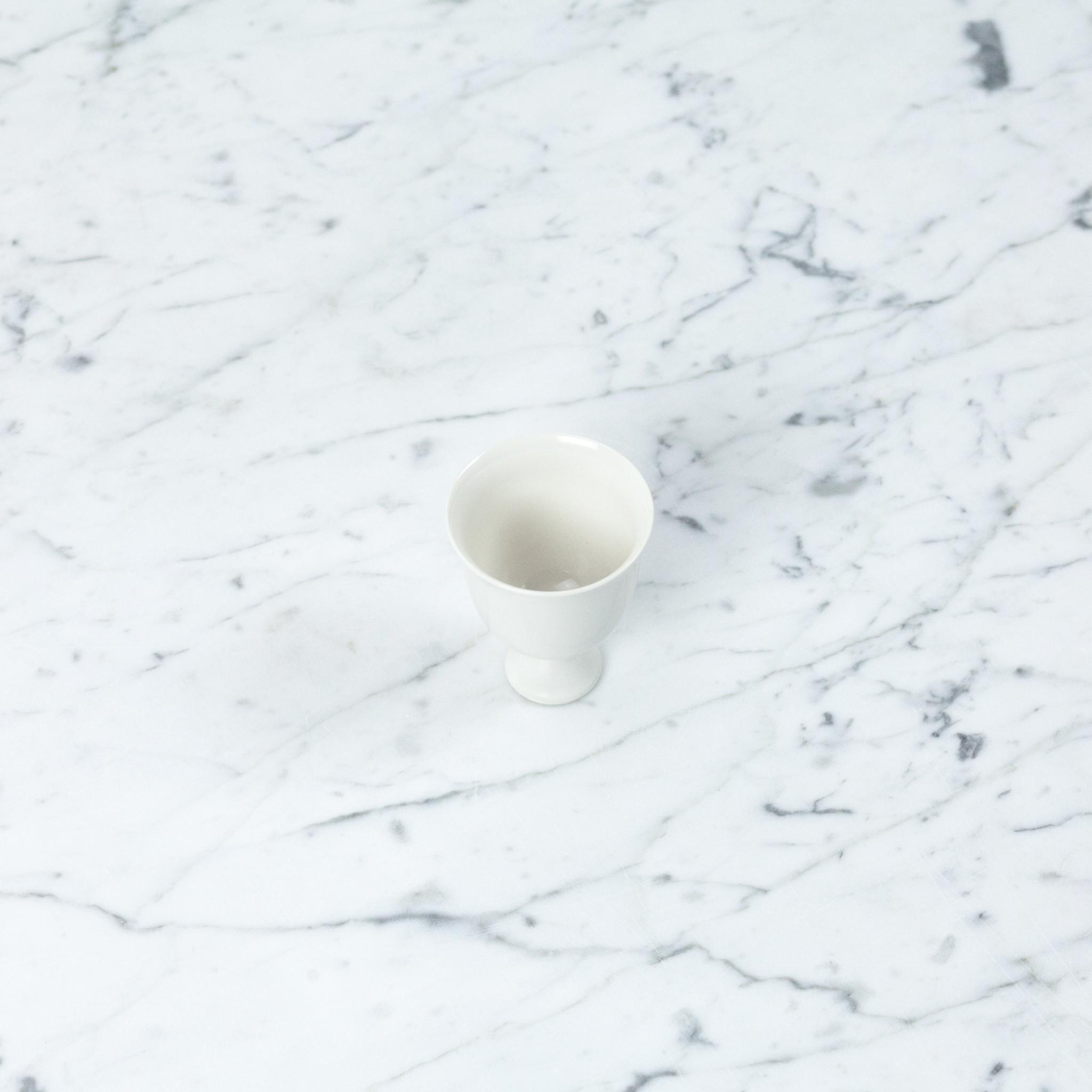 Jicon Porcelain Pedestal Vessel - Tulip Goblet - 2.75''