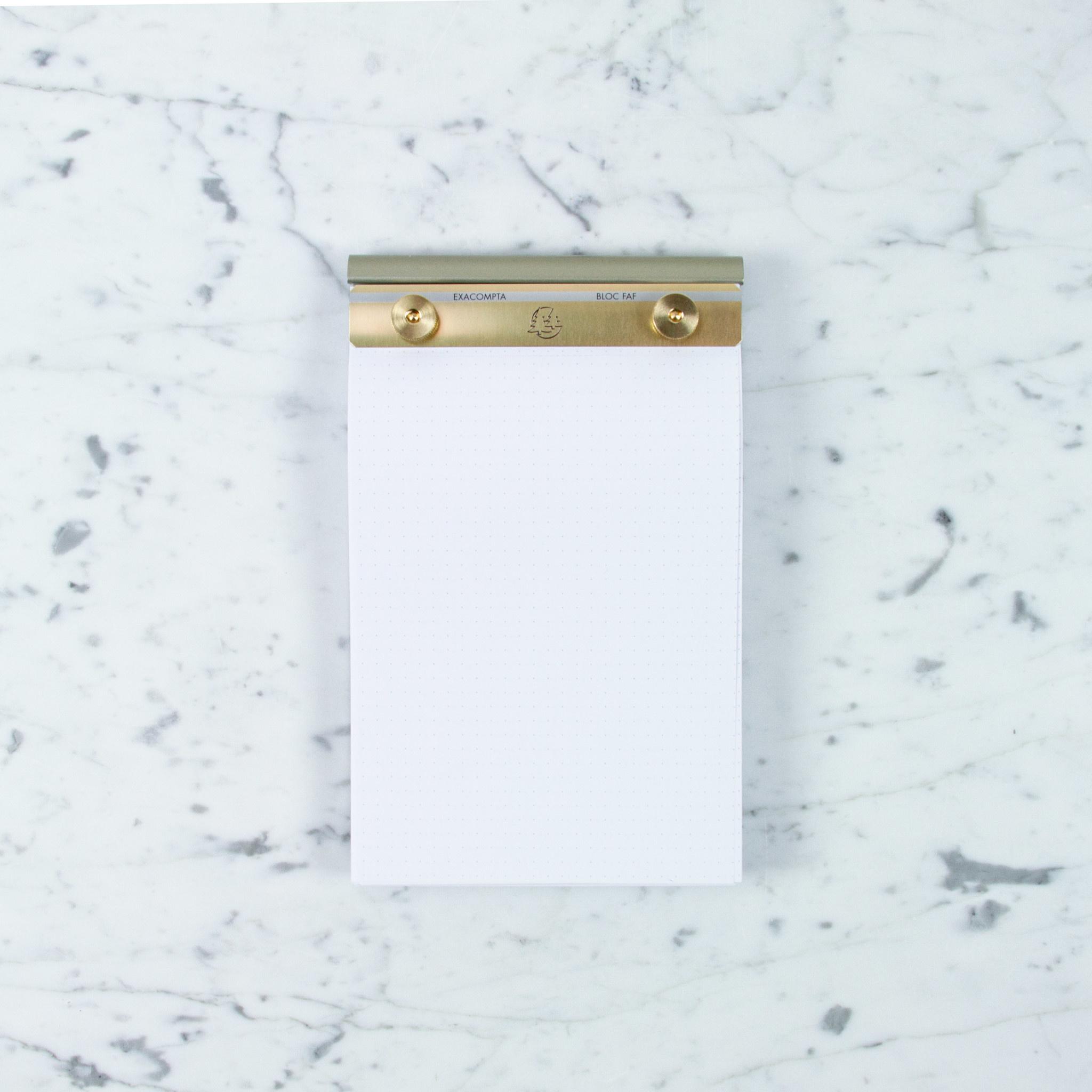 "Refill Sheets for Exacompta FAF Refillable Metal Desk Pad - Dot Grid - Large - 5"" x 8"""