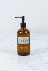 The Foundry Home Goods The Foundry Amber Glass Bottle 16oz + Dish Soap - Citrus