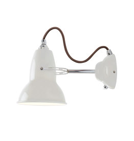 Anglepoise PREORDER Original 1227 Wall Light Sconce - Linen White with Chrome