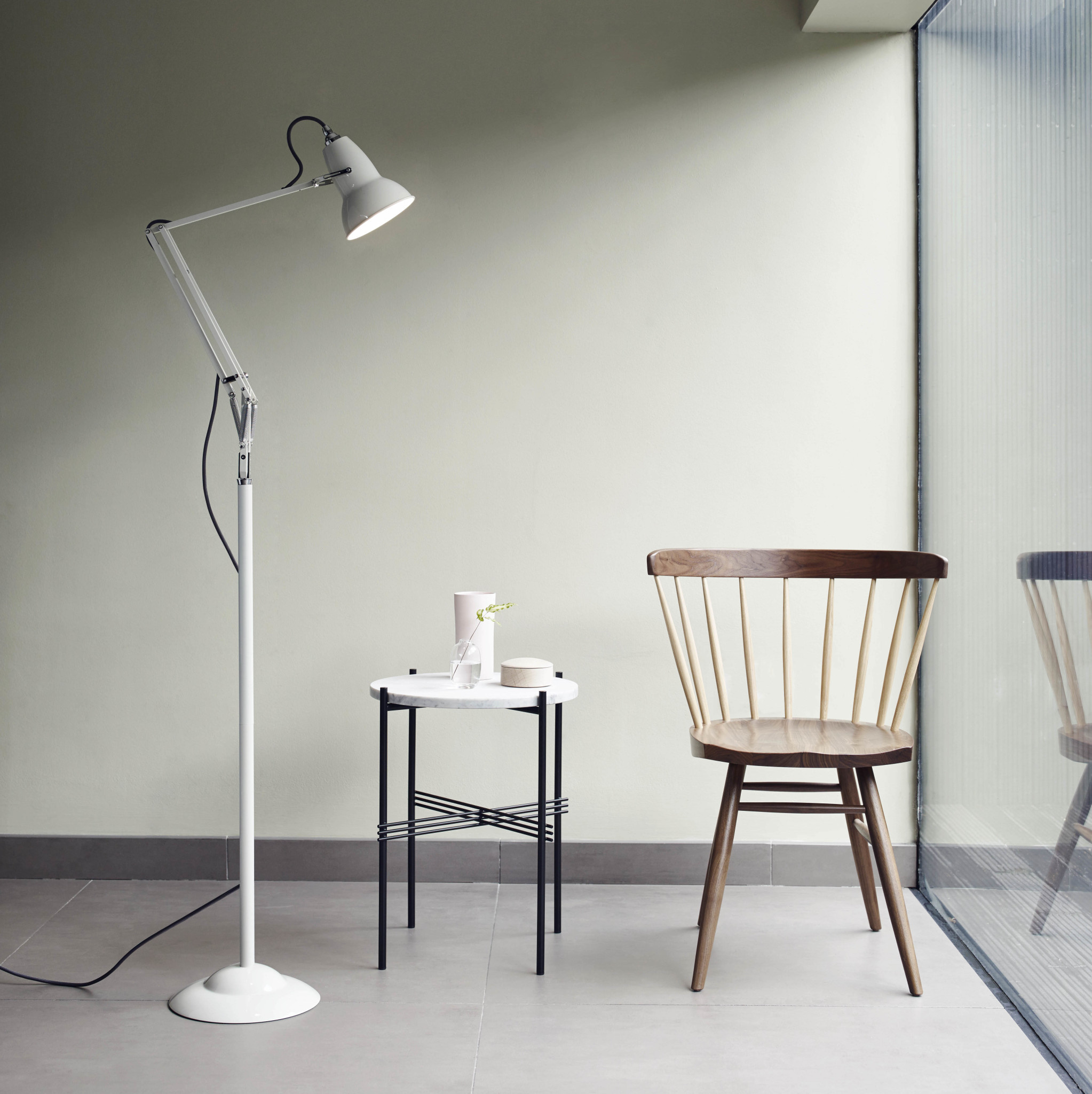 Anglepoise PREORDER Floor Pole for Original 1227 Series Lamps - Linen White