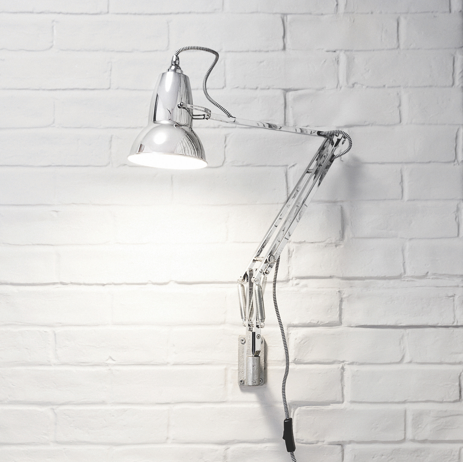 Anglepoise PREORDER Wall Mount Bracket for Original 1227 Series Lamps - Chrome Finish