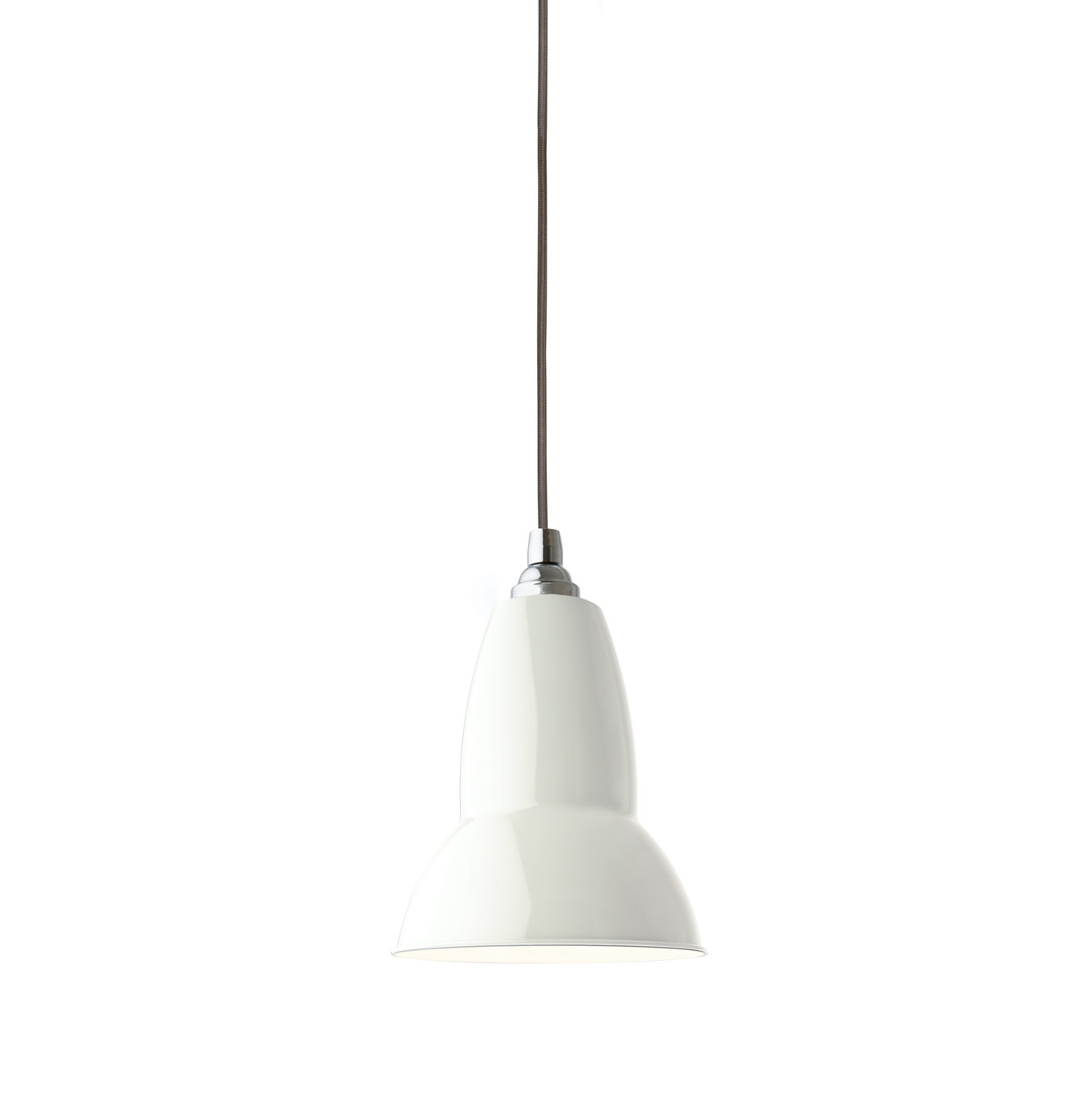 Anglepoise PREORDER Original 1227  Pendant Lamp - Linen White with Chrome