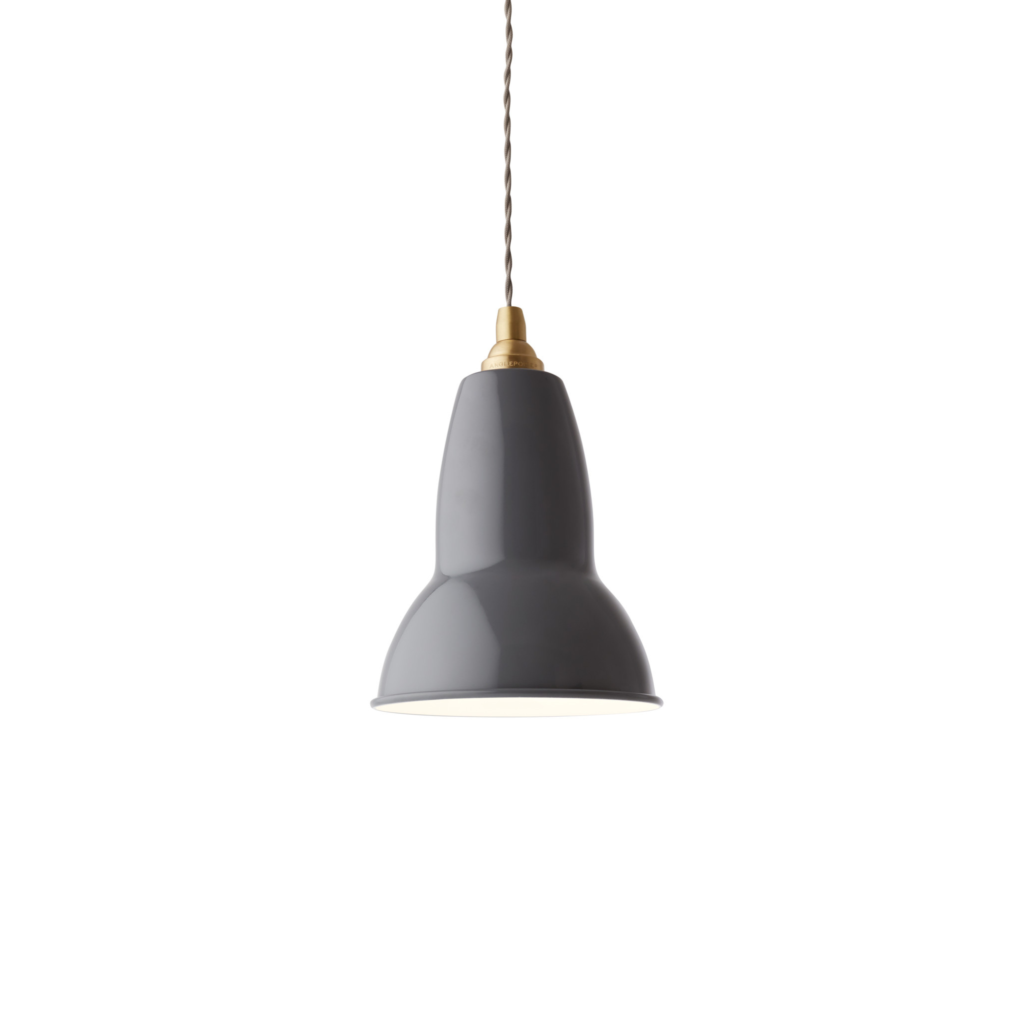 Anglepoise PREORDER Original 1227  Pendant Lamp - Elephant Grey with Brass