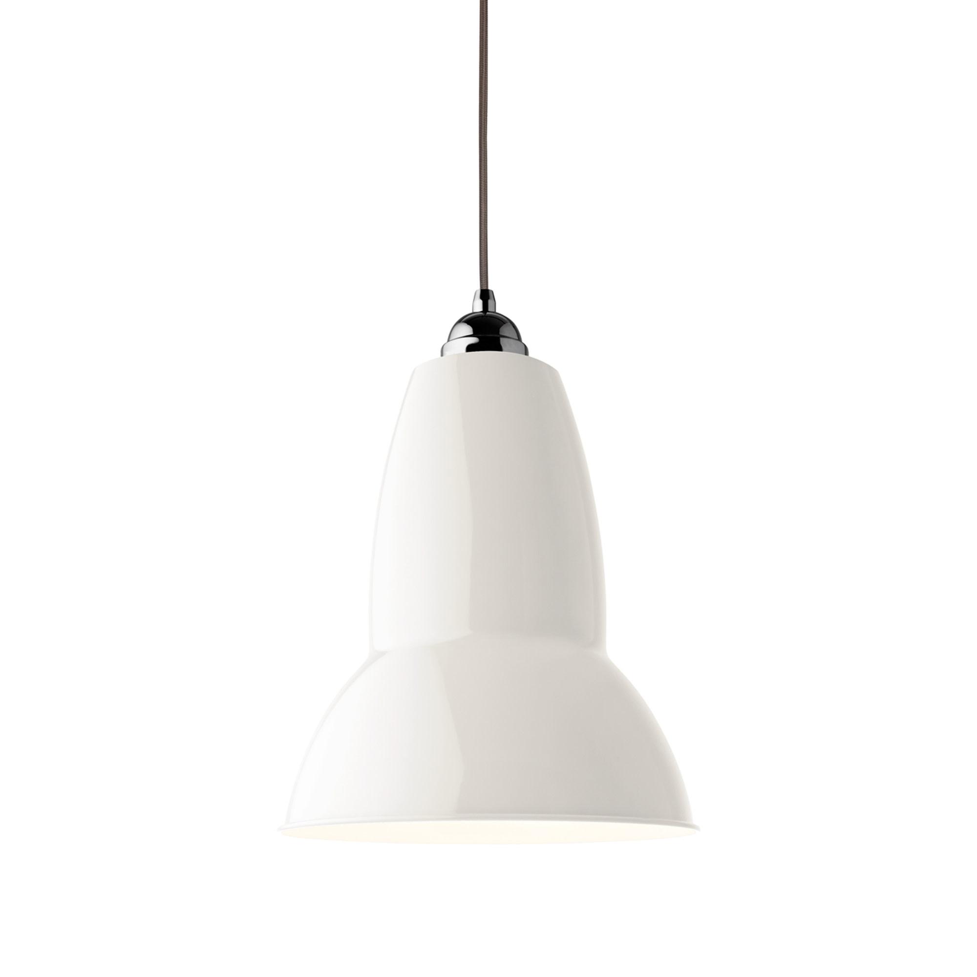 Anglepoise PREORDER Original 1227 Maxi Pendant Lamp - Linen White with Chrome