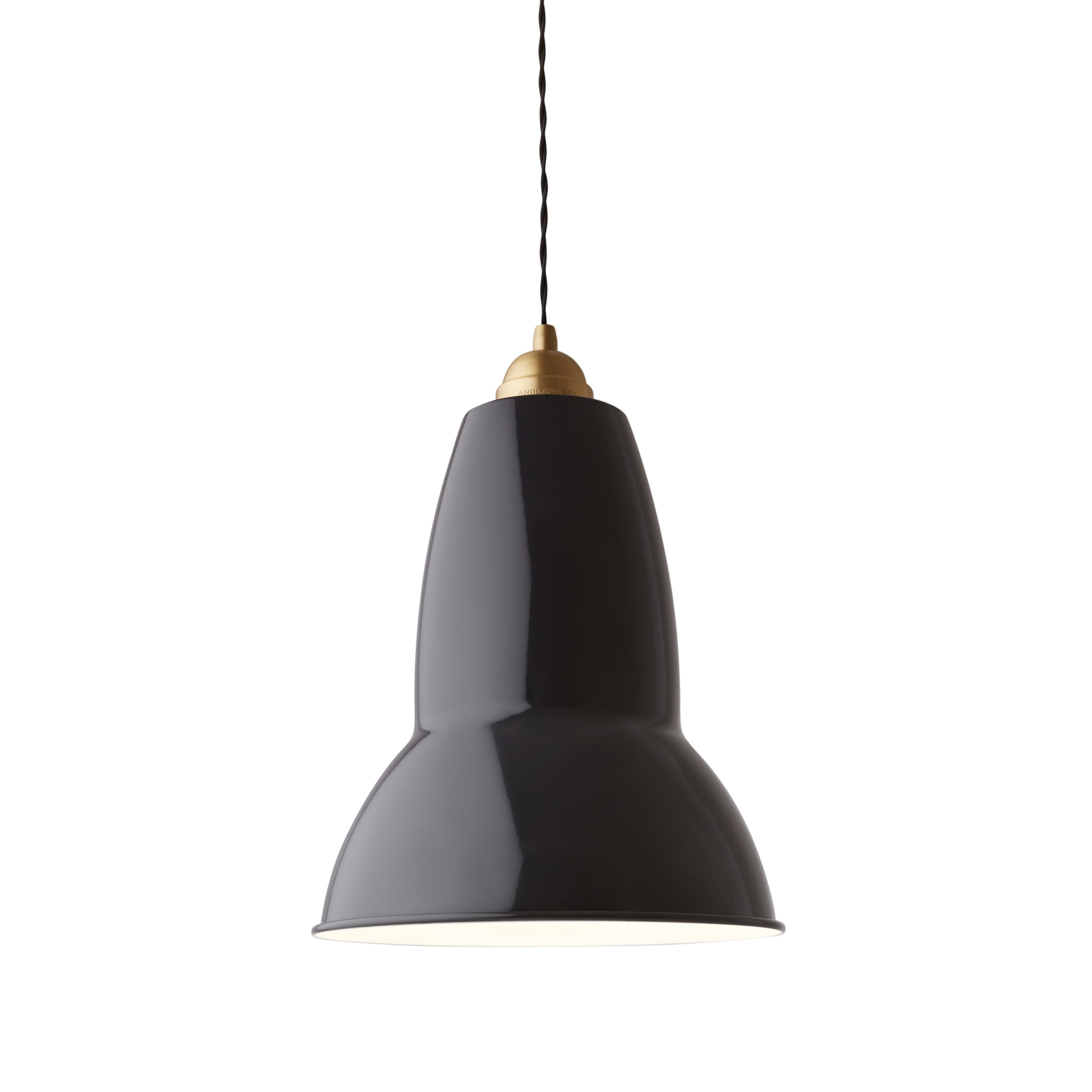 Anglepoise PREORDER Original 1227 Maxi Pendant Lamp - Jet Black with Brass