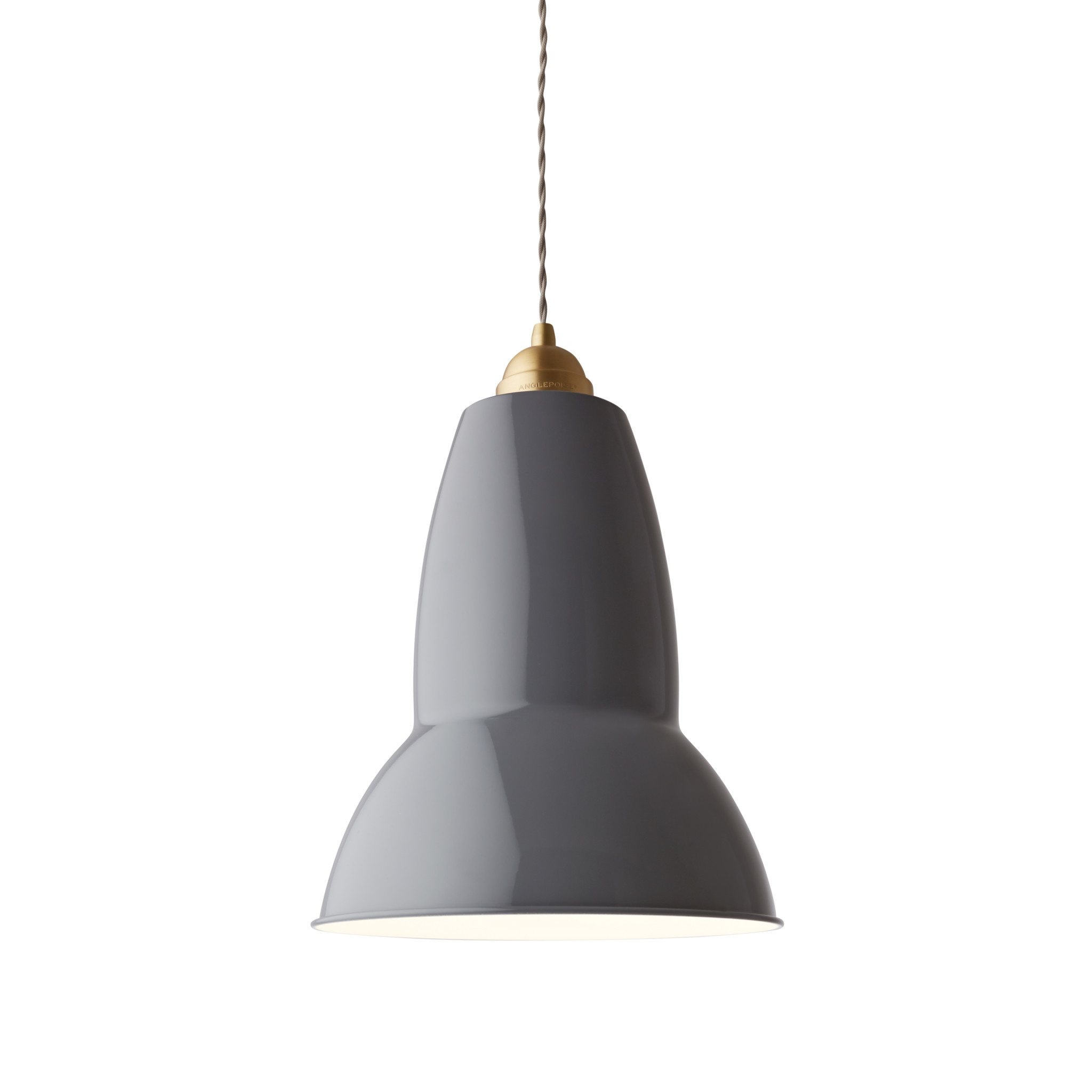 Anglepoise PREORDER Original 1227 Maxi Pendant Lamp - Elephant Grey with Brass
