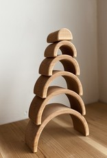 """Grimm's Toys Wooden Tunnel - Natural - 6 1/2"""""""
