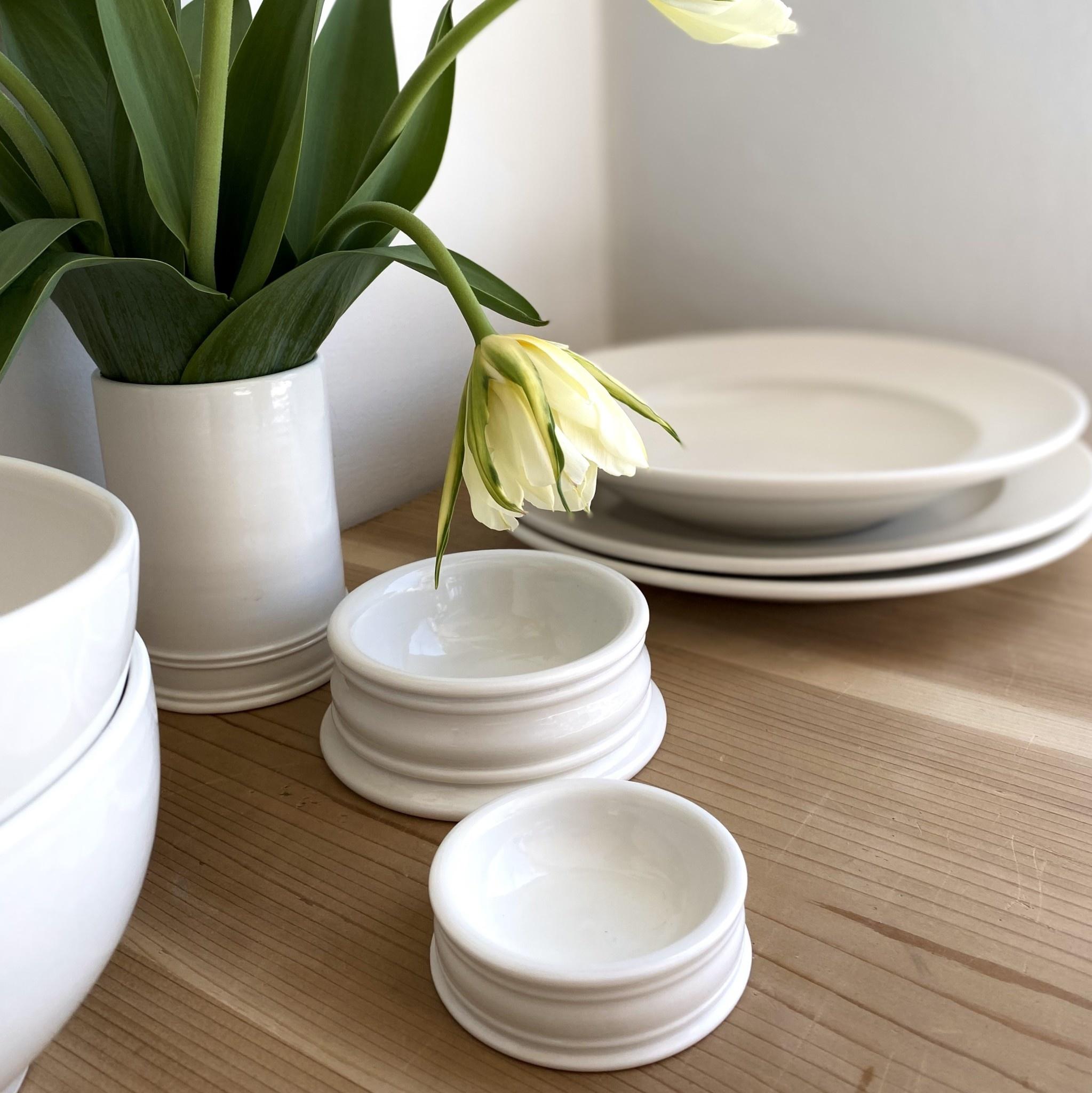 "John Julian John Julian Hand Thrown Porcelain Pinch Pots - Full Glaze - Small - 3"""