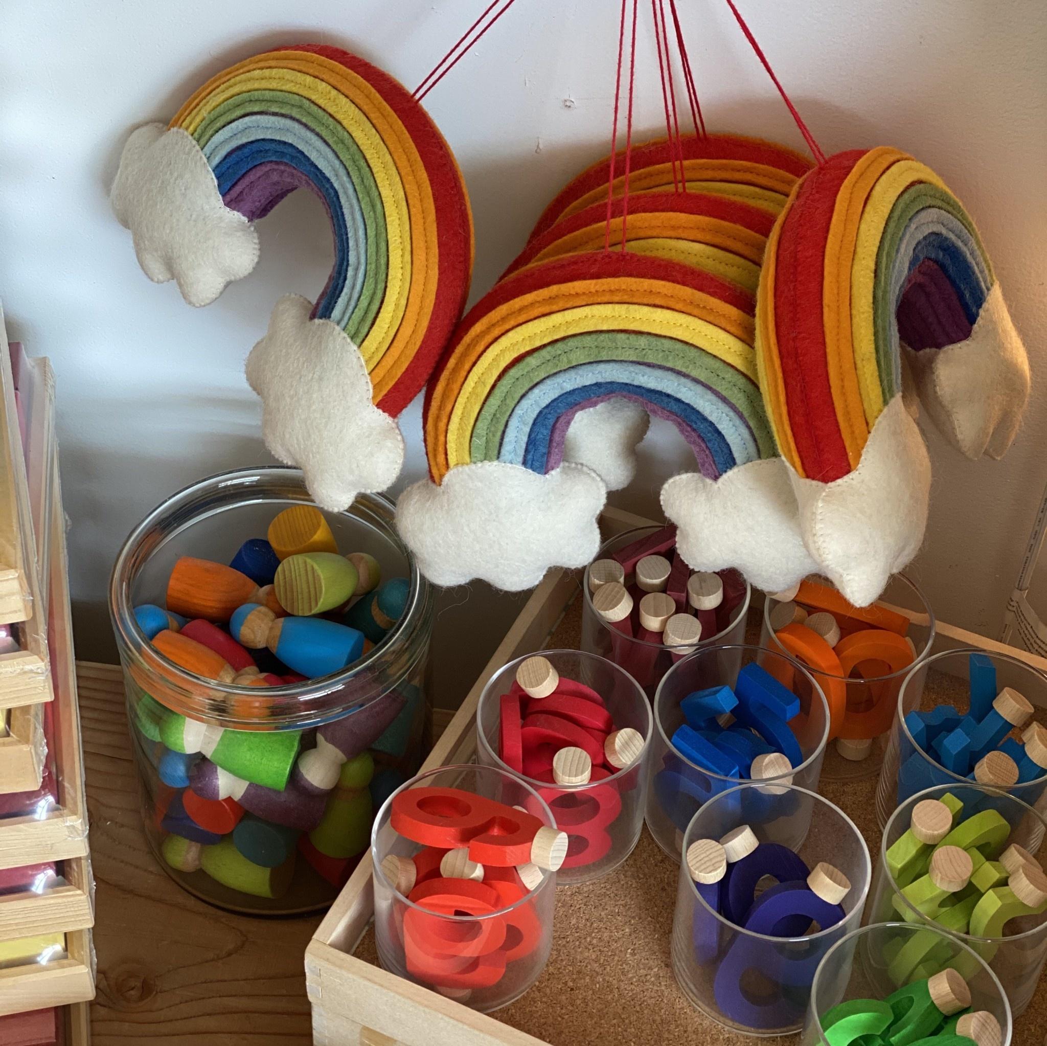 "Craftspring Hand Felted Over The Rainbow Wall Hanging - Medium - 9"""