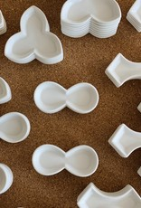 Jicon Tiny Tri Leaf Porcelain Dish - 2.75''