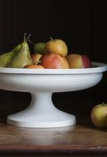 "John Julian John Julian Porcelain Half Glaze Fruit Stand - Short - 5 1/2"""