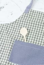 Children's Apron - Blue + Grey Gingham Check