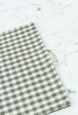 Children's Cotton Kitchen Towel or Place Mat - Grey Gingham Check