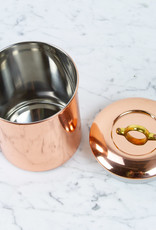 """Copper Storage Canister Brass Handle - Extra Small - 4.75"""""""