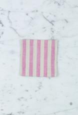 Lithuanian Linen Coaster - Michele Pink Stripe