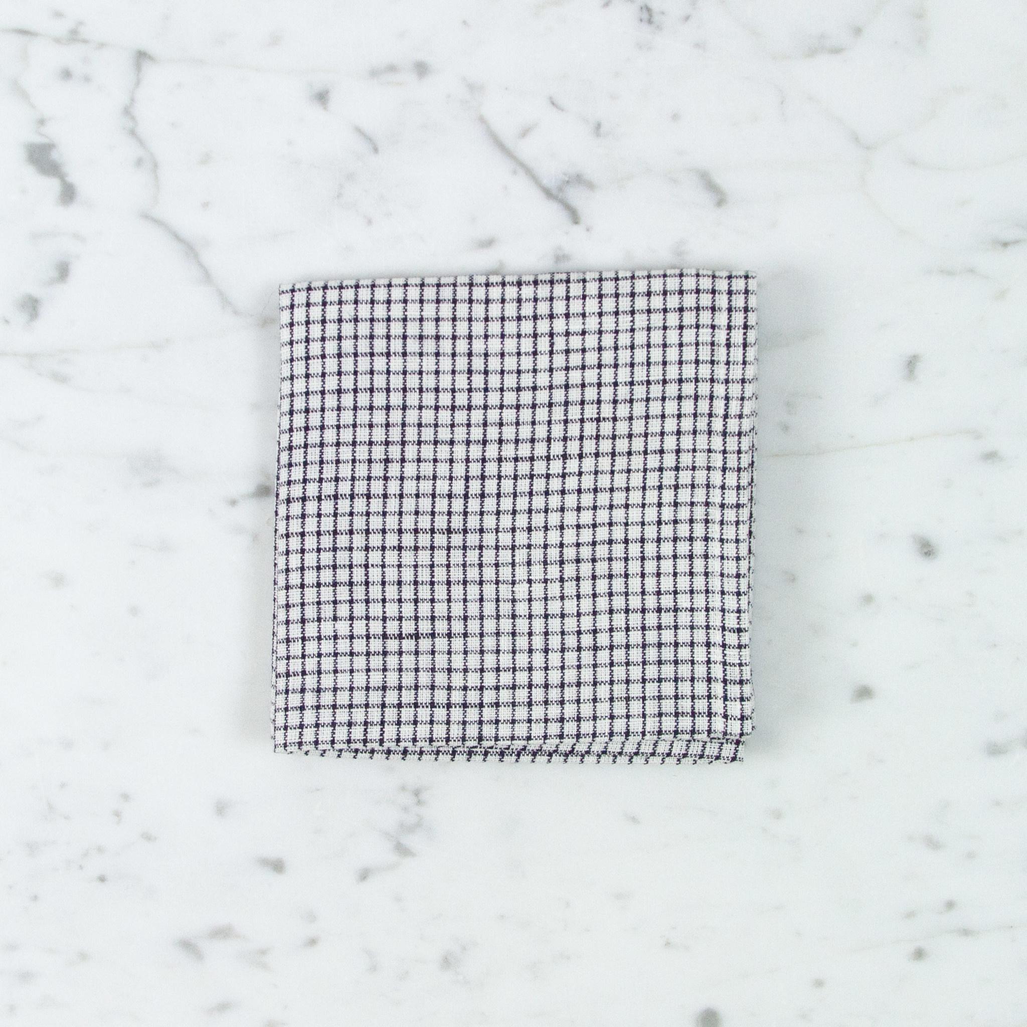 Linen Handkerchief - Sophie Blue Check