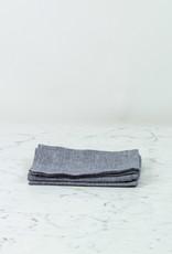Lithuanian Linen Kitchen Cloth - Mia Blue Mini Houndstooth