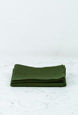 Thick Lithuanian Linen Kitchen Cloth - Laurel Green