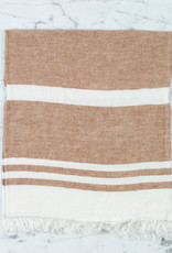 "Libeco Home Belgian Linen Guest Towel - Desert Stripe - 21.5 x 25.5"""