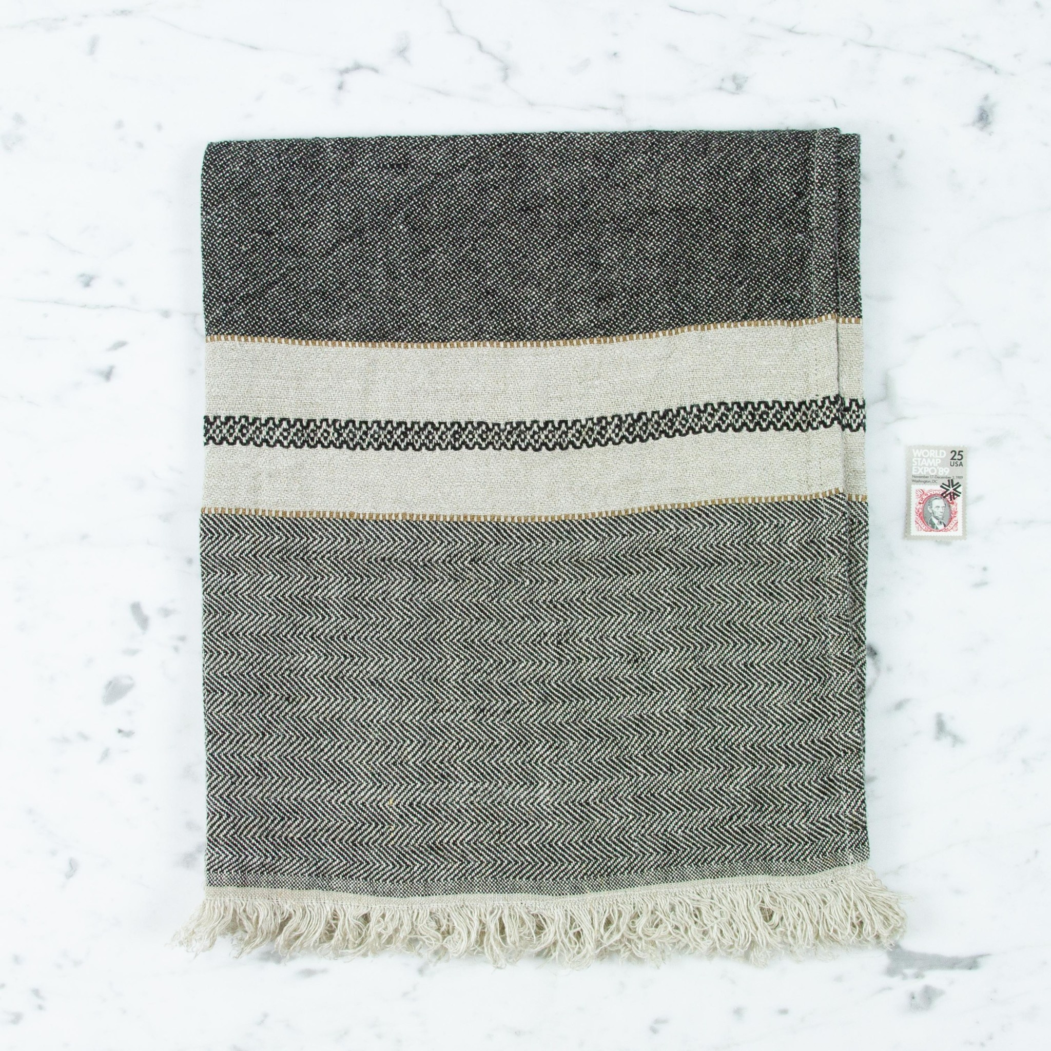 "Libeco Home Belgian Linen Guest Towel - Tack Stripe - 21.5 x 25.5"""